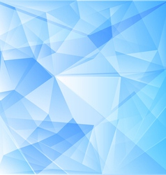 Abstract blue background of triangles vector image vector image