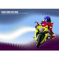 al 0934 moto 01 vector image vector image