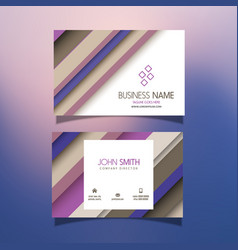Business card with striped design vector