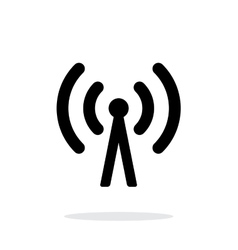 Cell phone tower icon on white background vector