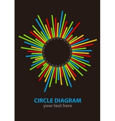 Circle diagram vector image