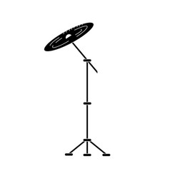 Contour cymbal musical instrument to play music vector