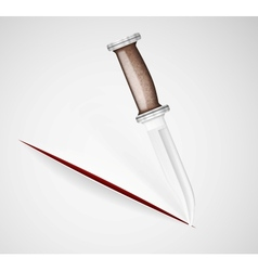 Cut a knife vector image