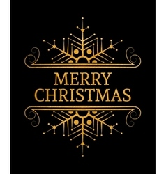 Decorative merry christmas inscription vector