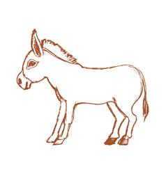 donkey symbol of stubbornness vector image vector image