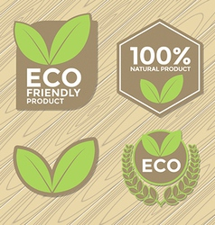 Eco friendly label set vector