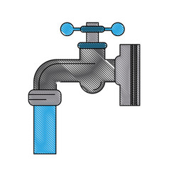 faucet open isolated vector image vector image