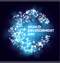 greeting card or banner to world environment day vector image
