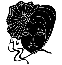 icon of carnival mask on a white background vector image vector image