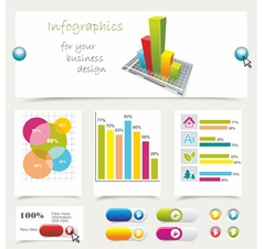 info graphics collection vector image vector image