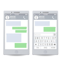 Mobile chat on line chatting with texting message vector
