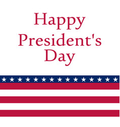 President s day in the united states vector