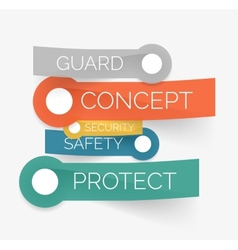 protection tag cloud of stickers vector image