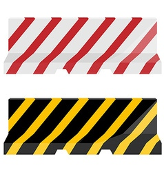 Road barrier set vector image vector image