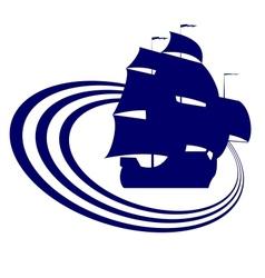 Sailing ship-7 vector