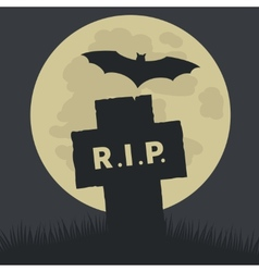 Simple Rest in Peace Icon Design vector image vector image
