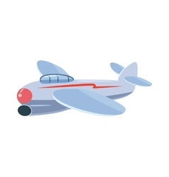 Small plane icon cartoon style vector