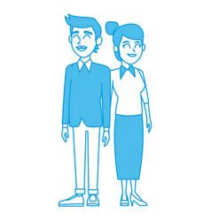 Teachers teamwork couple vector