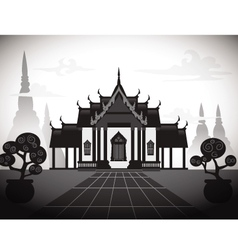 Temple silhouette vector