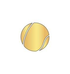 Tennis ball computer symbol vector