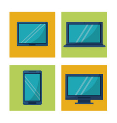 White background with square frames graphics with vector