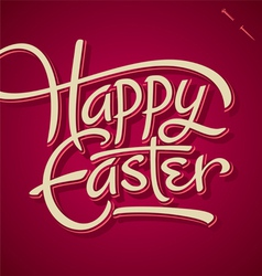 Happy easter hand lettering vector