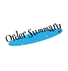 Order summary rubber stamp vector