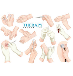 therapy set vector image