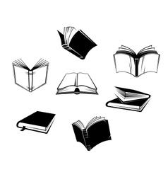 Books icons and symbols vector image