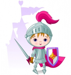 Brave knight vector