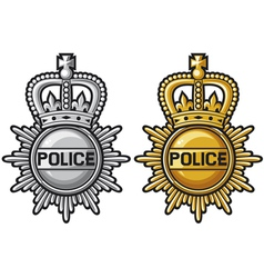 Police badge police sign vector