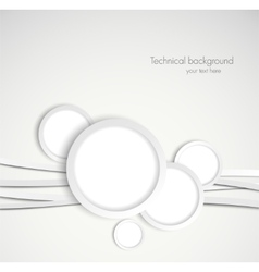 Background with gray circles vector