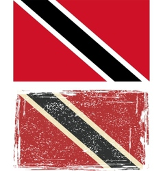 Trinidad and tobago grunge flag vector