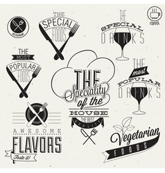Retro vintage style restaurant menu designs vector