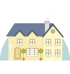 Two story house icon vector