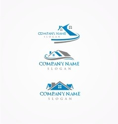 real estate logohome bundle logo vector image
