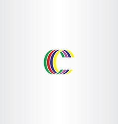 C letter colorful symbol sign logo vector