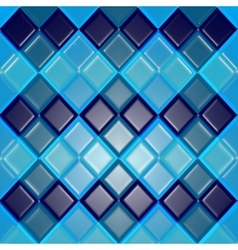 Background of blue rhombuses as tiles vector