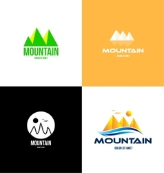 Mountain tourism logo icon vector