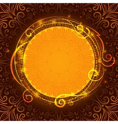 Abstract brown mystic lace background with swirl vector image