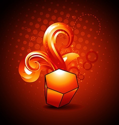 abstract golden shape design vector image