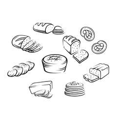 Bakery food vector