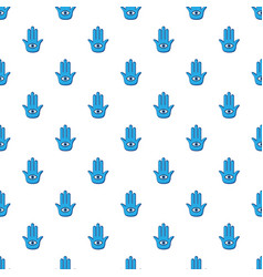 Blue palm with eye pattern vector