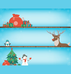 christmas banners set with decoration elements vector image vector image