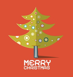 Christmas Tree Made from Paper on Red Retro vector image vector image