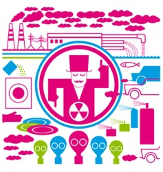 concept pollution vector image vector image