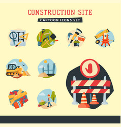 Construction site workers aerial industry vector