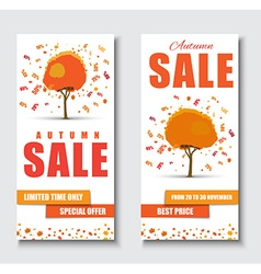 Design web banners for sale with autumnal tree vector