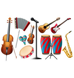 Different types of classical instruments vector