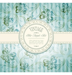 Elegant vintage invitation vector